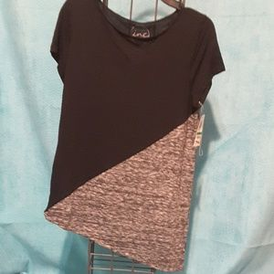 INC black and gray top